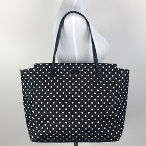 Kate Spade Black and White Polka Dotted Tote